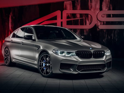 BMW M5 в сатине Avery Dennison Satin Metallic Light Grey