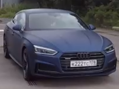 Audi A5 в пленке Avery Dennison Matt Metallic Night Blue