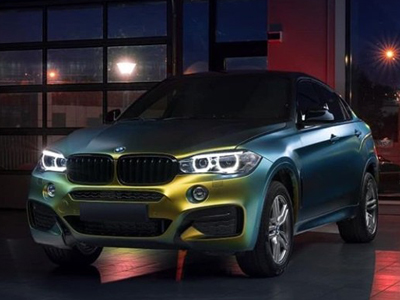 BMW X6 в пленке-хамелеоне ColorFlow™ Satin Fresh Spring Gold/Silver